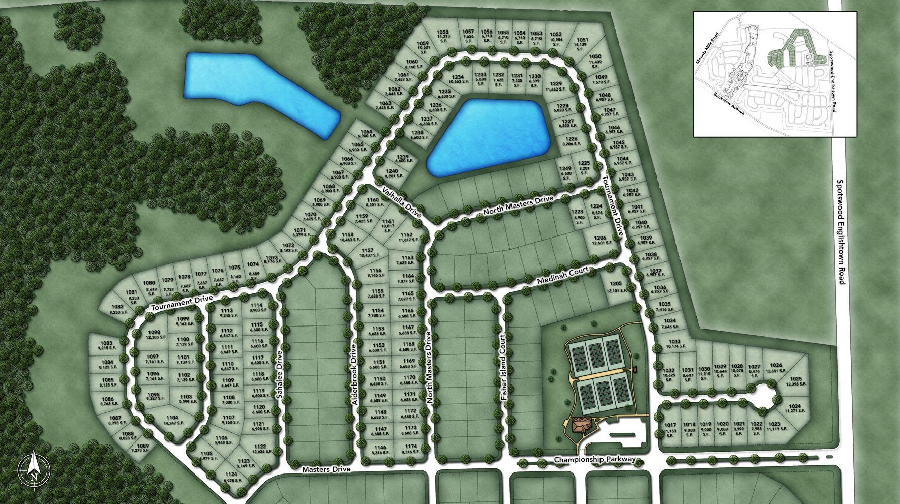 Regency at Monroe - Tournament Section Site Plan
