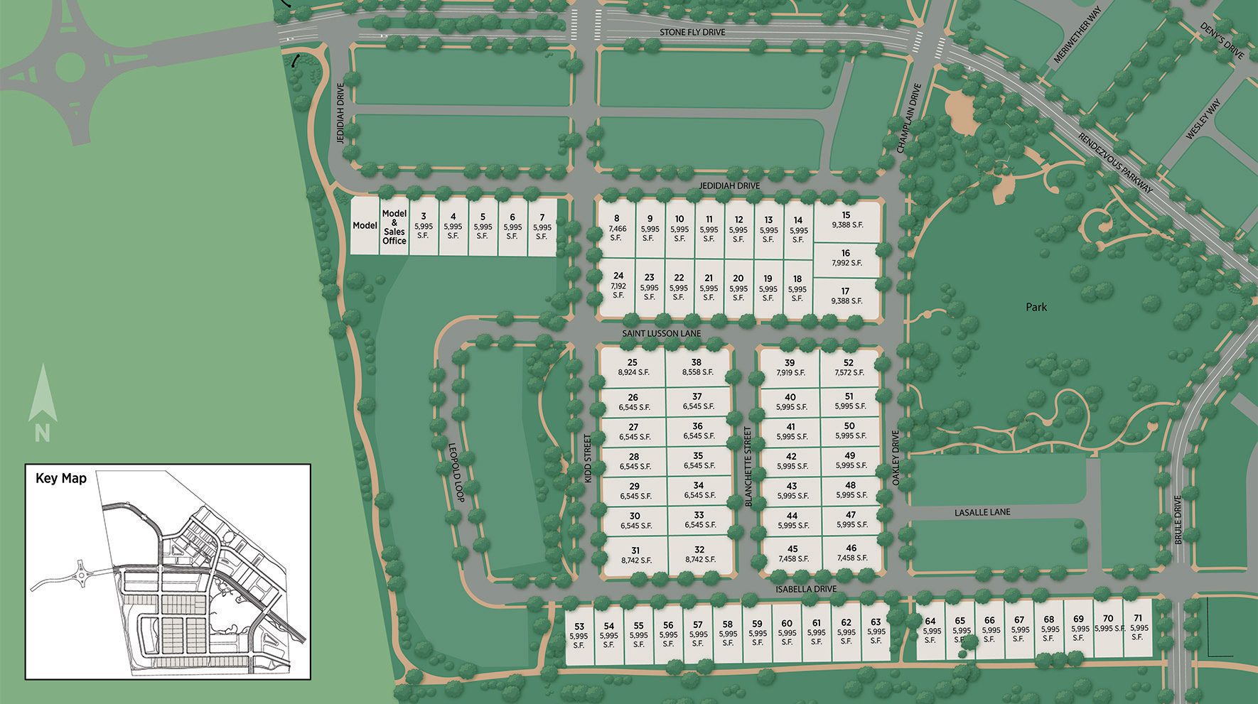 Toll Brothers at Trailside on Harmony Site Plan