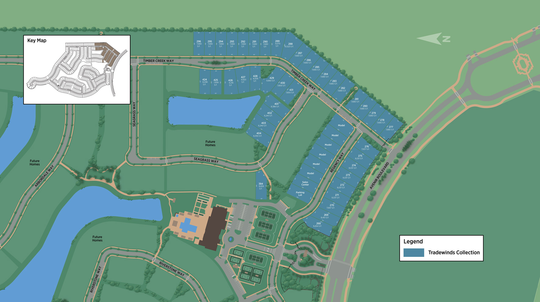 Regency at Avenir - Tradewinds Collection Site Plan