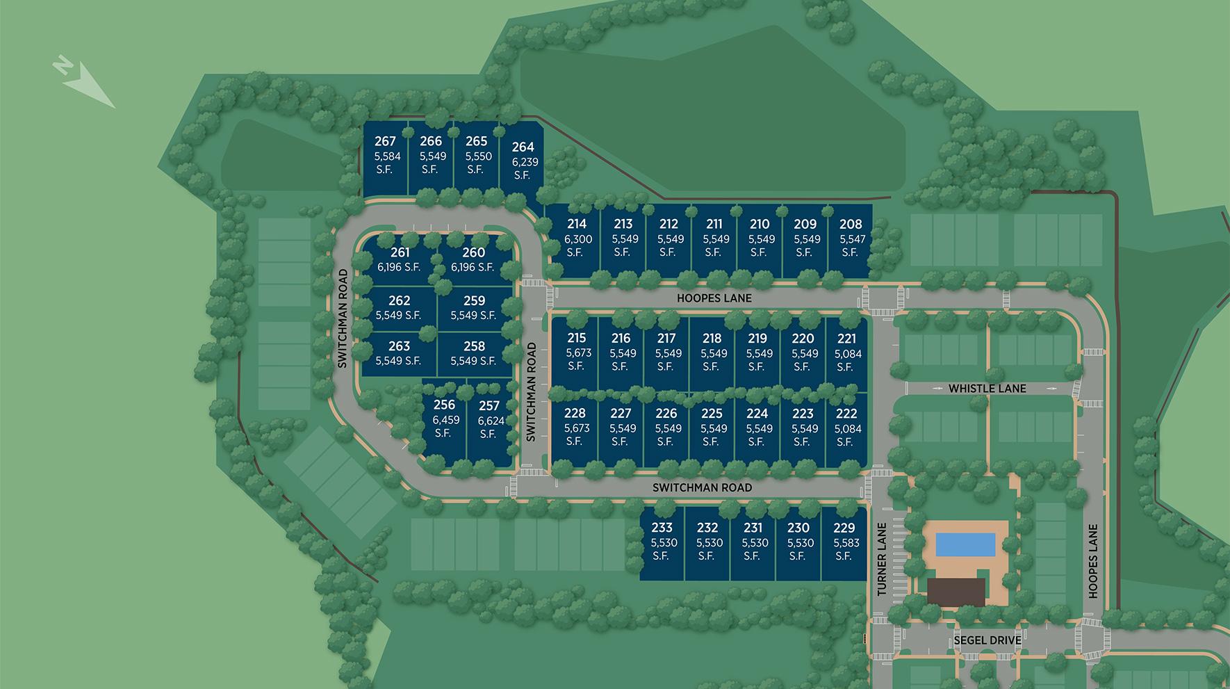 Franklin Station - The Estates Collection Site Plan