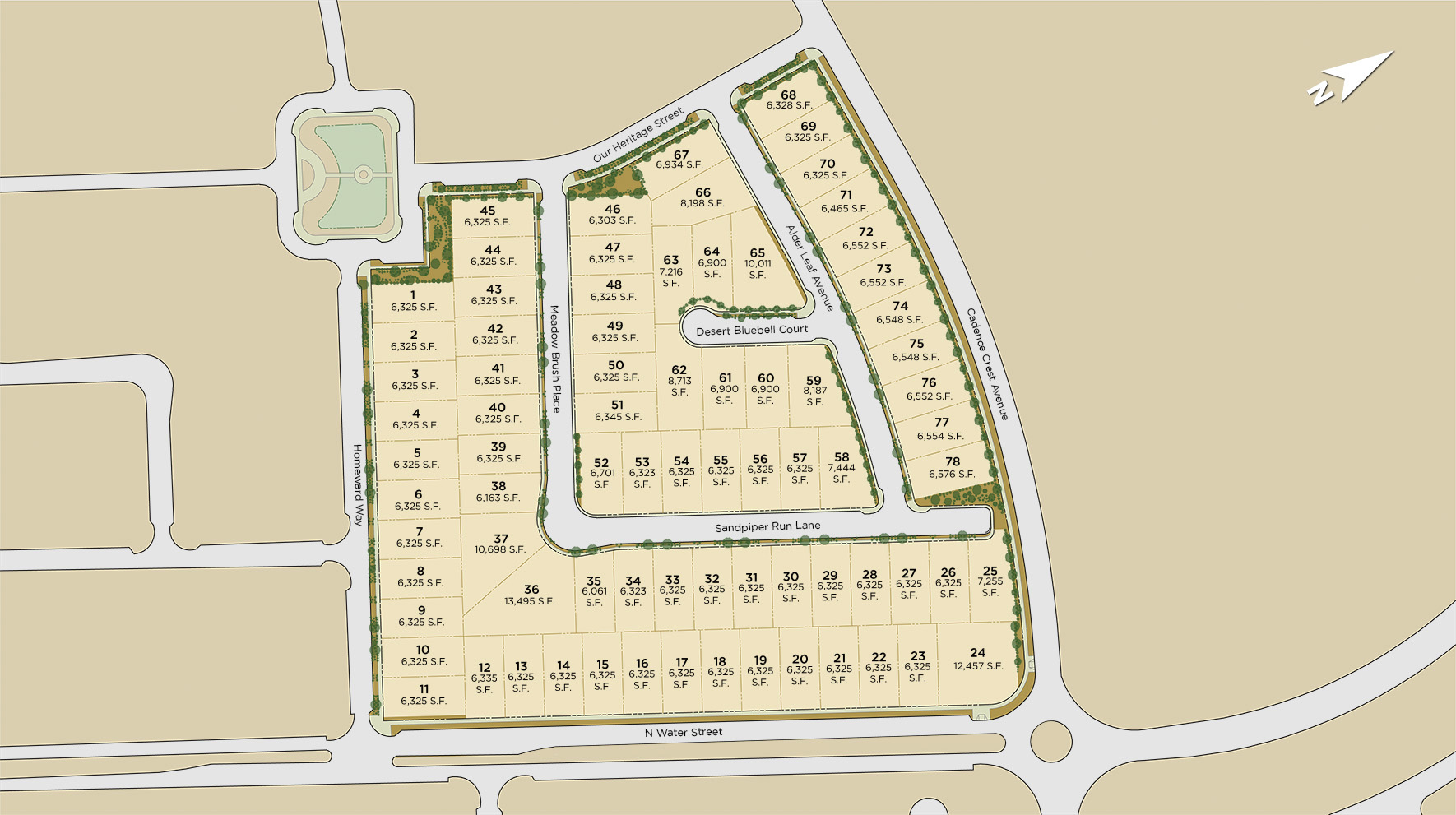 Concord at Cadence Site Plan