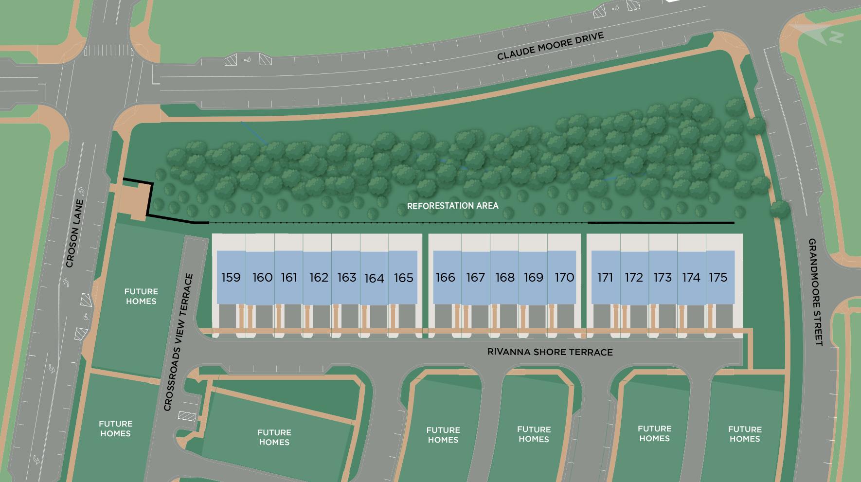 Metro Walk at Moorefield Station - Brownstones Site Plan