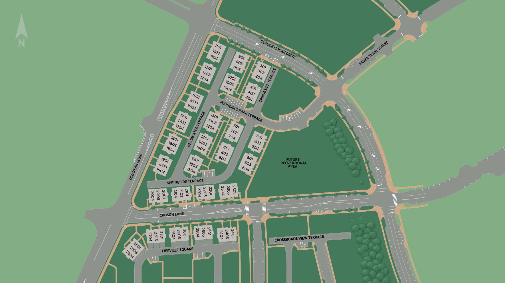 Metro Walk at Moorefield Station - Flats Site Plan II