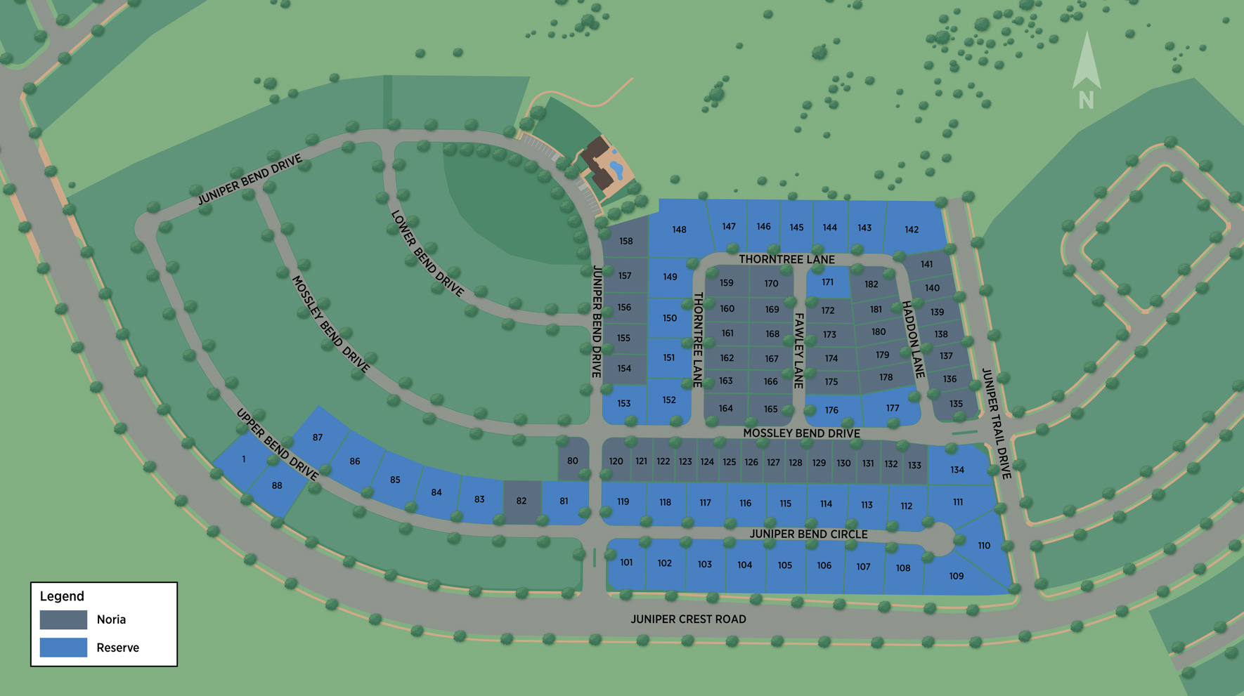 Toll Brothers at Rosecrest - Noria Collection Site Plan