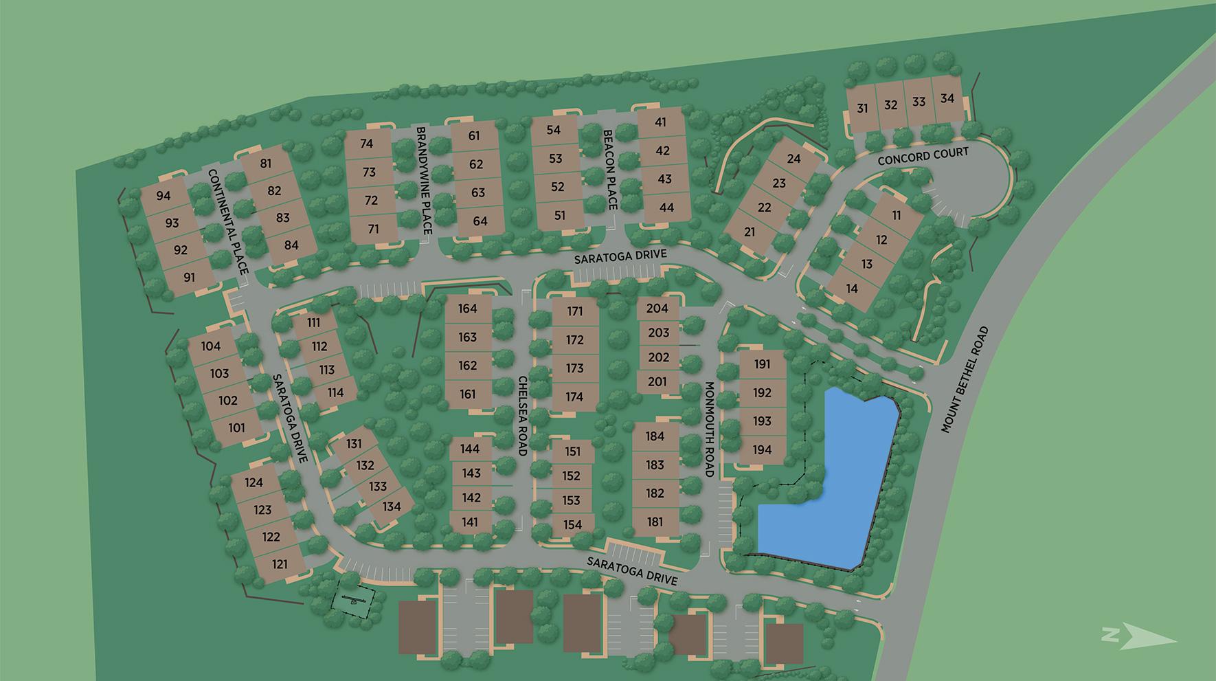 Villas at Warren Site Plan