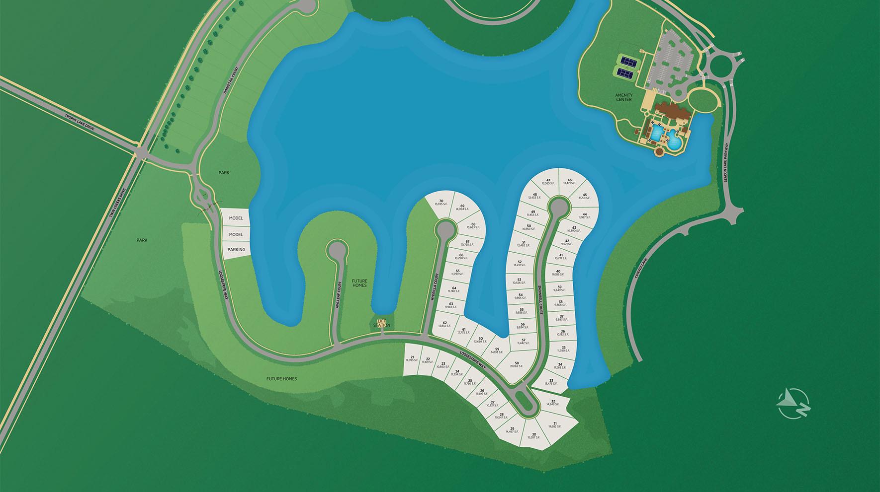 The Landing at Beacon Lake Site Plan