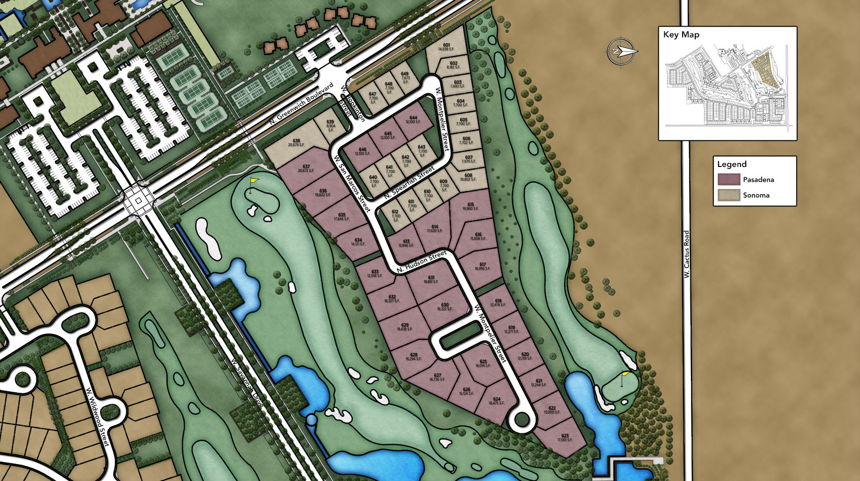 Sterling Grove - Pasadena & Sonoma Collections Site Plan