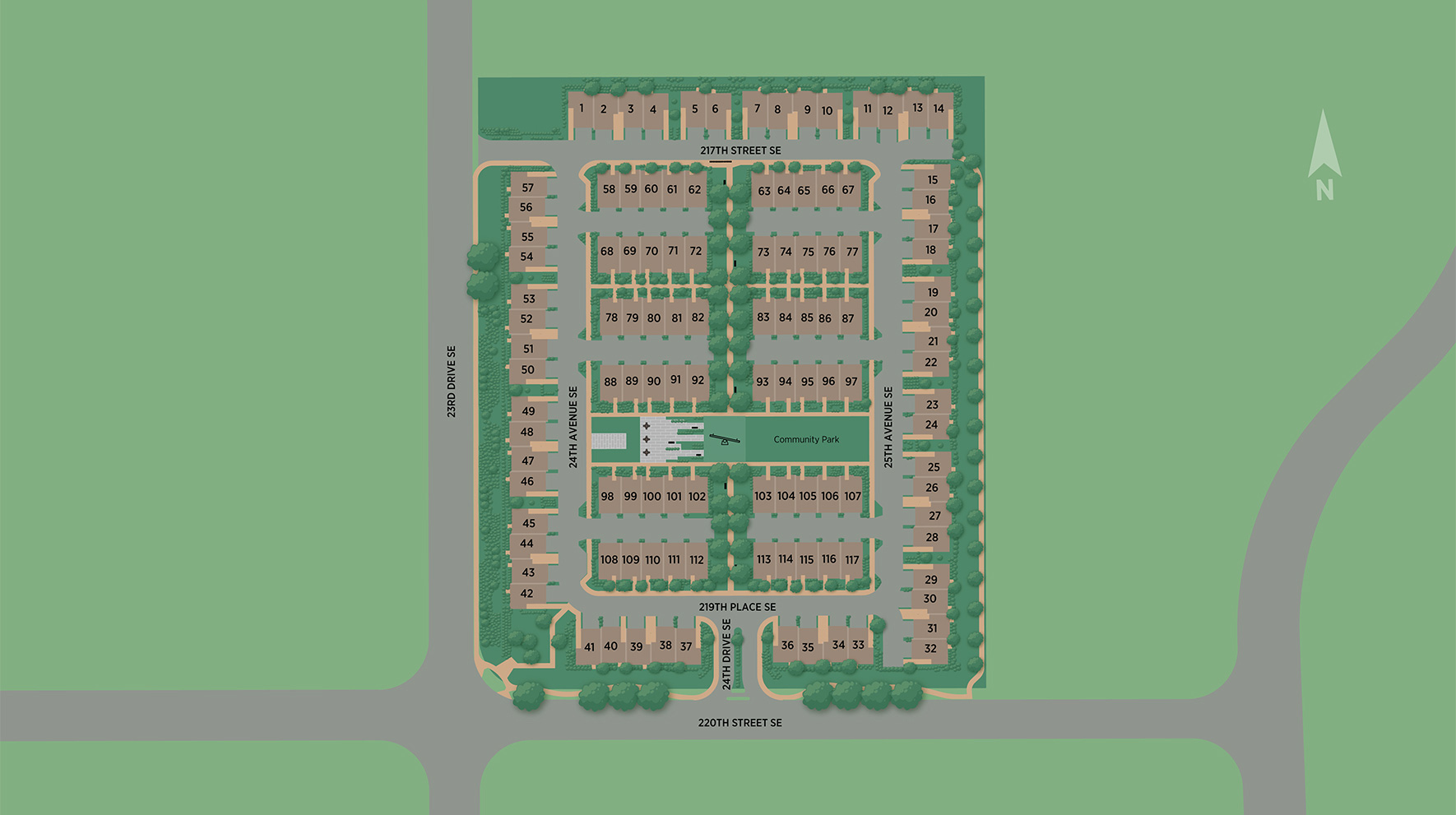 220 Towns at Canyon Park Site Plan