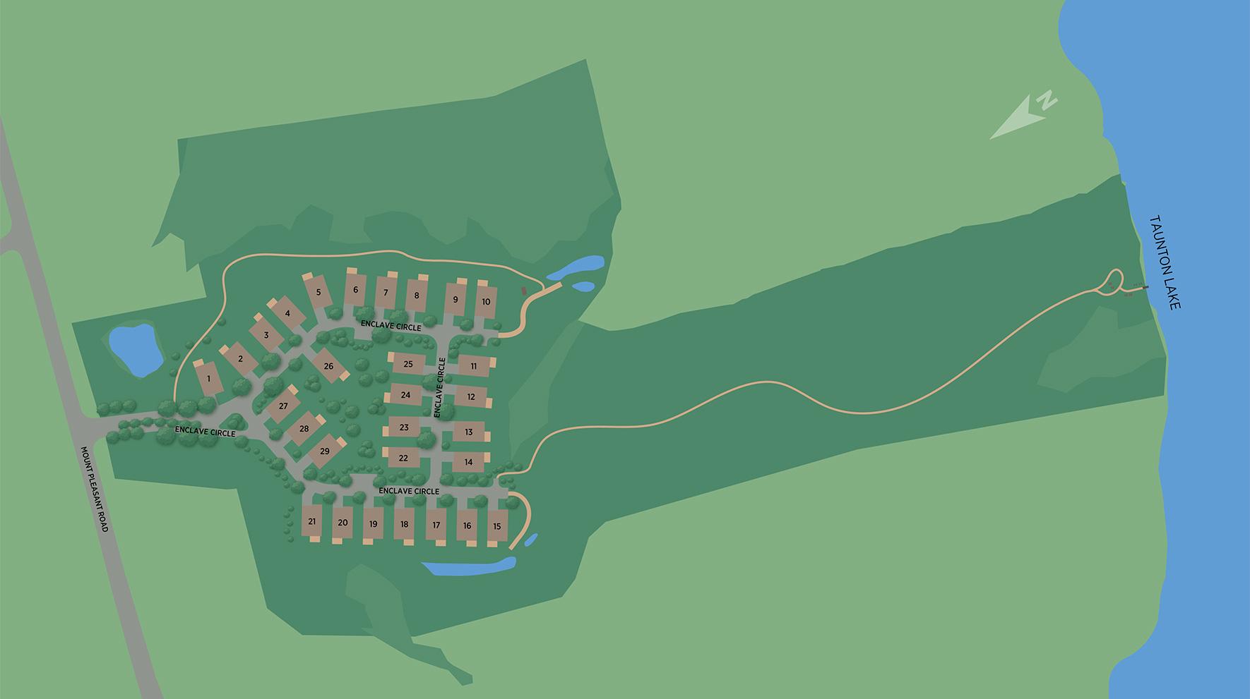 Enclave at Taunton Lake Site Plan
