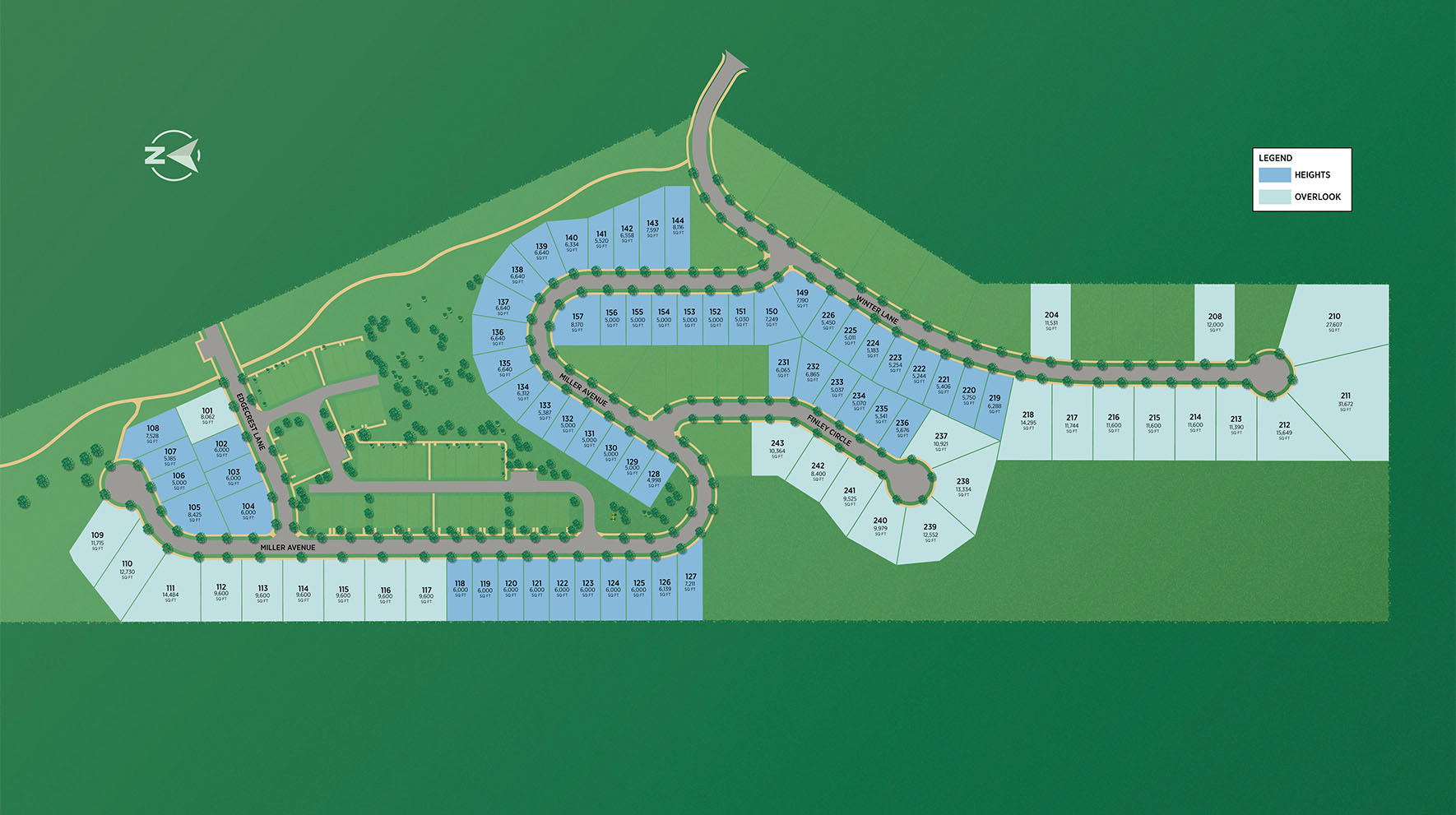 The Ridge by Toll Brothers - The Heights Collection Site Plan
