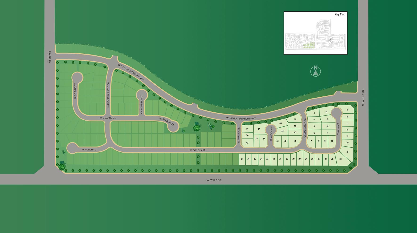 Meadows at West Highlands - Garden Site Plan
