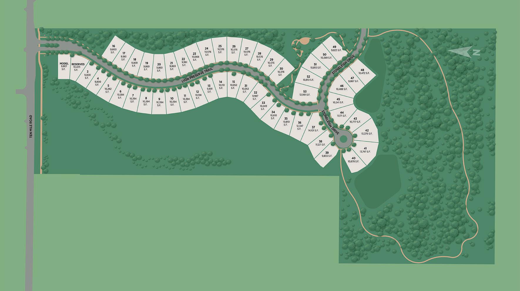 Lyon Preserve Site Plan