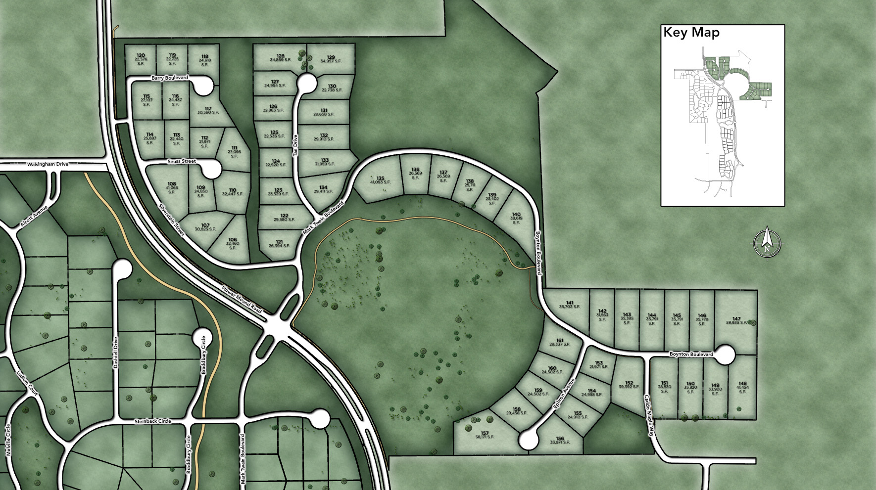 Town Lake at Flower Mound Site Plan