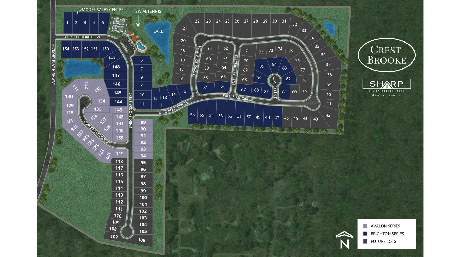 Crest Brooke Site Plan - Avalon