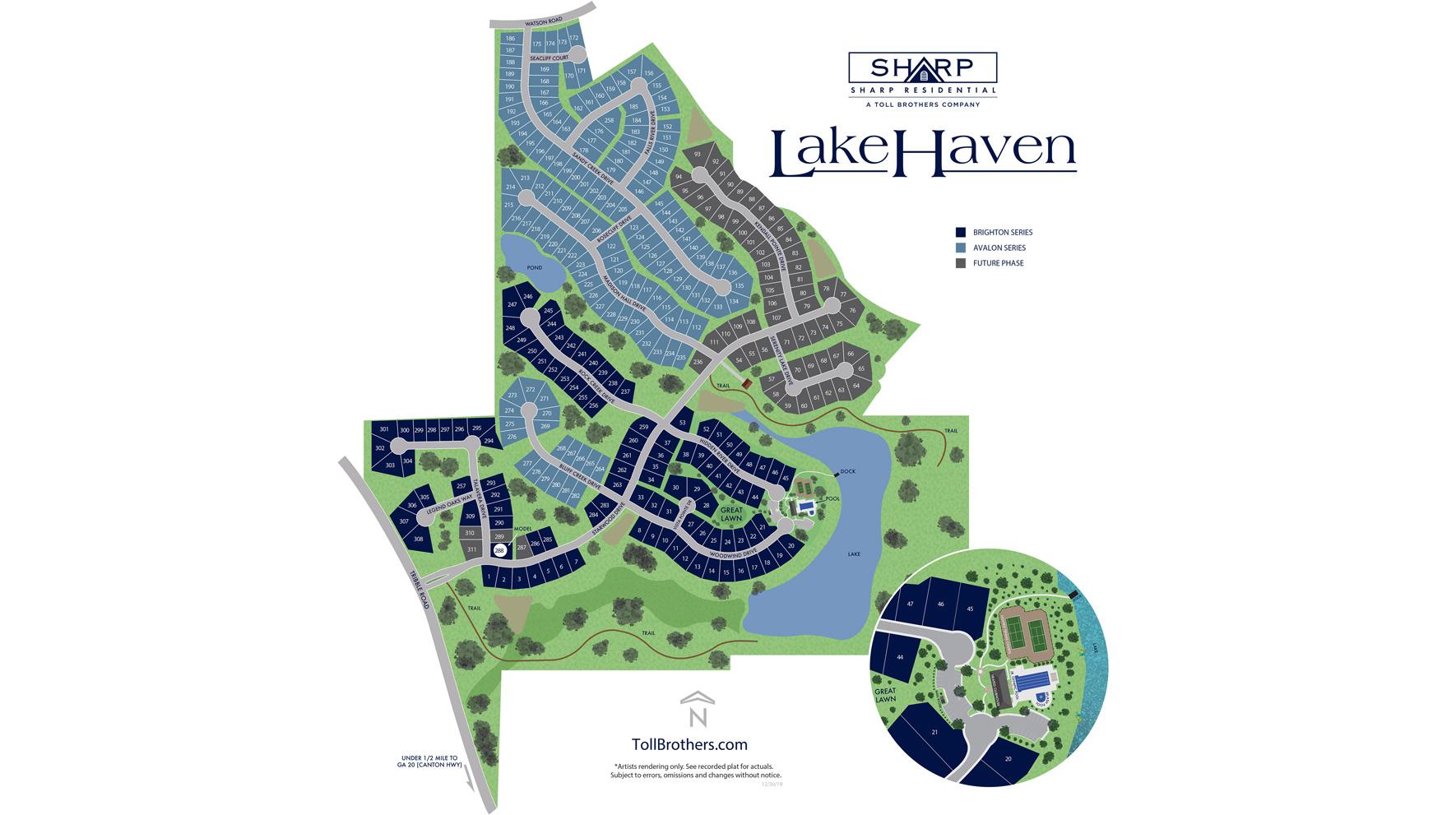 LakeHaven Overall Site Plan