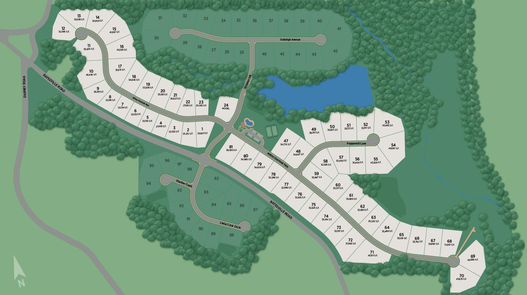 Milton Overlook Site Plan