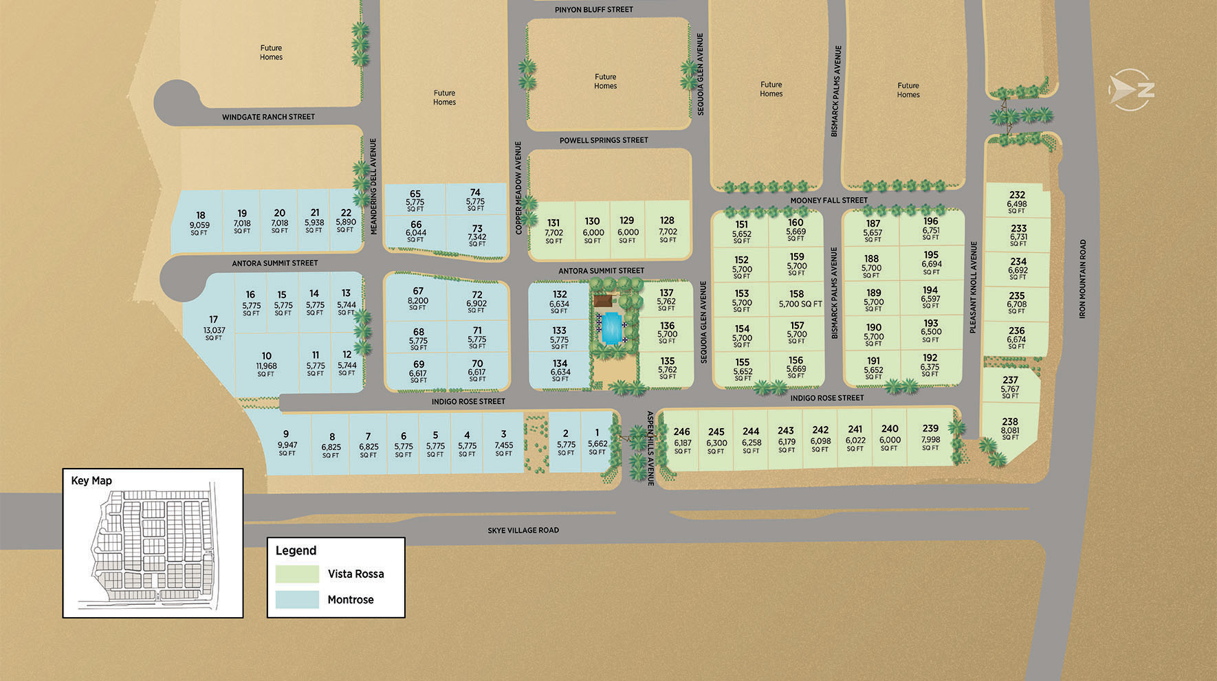 Toll Brothers at Skye Canyon - Montrose Collection Site Plan