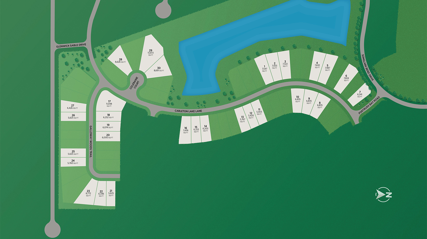Lakes at Creekside - Premier Collection Site Plan
