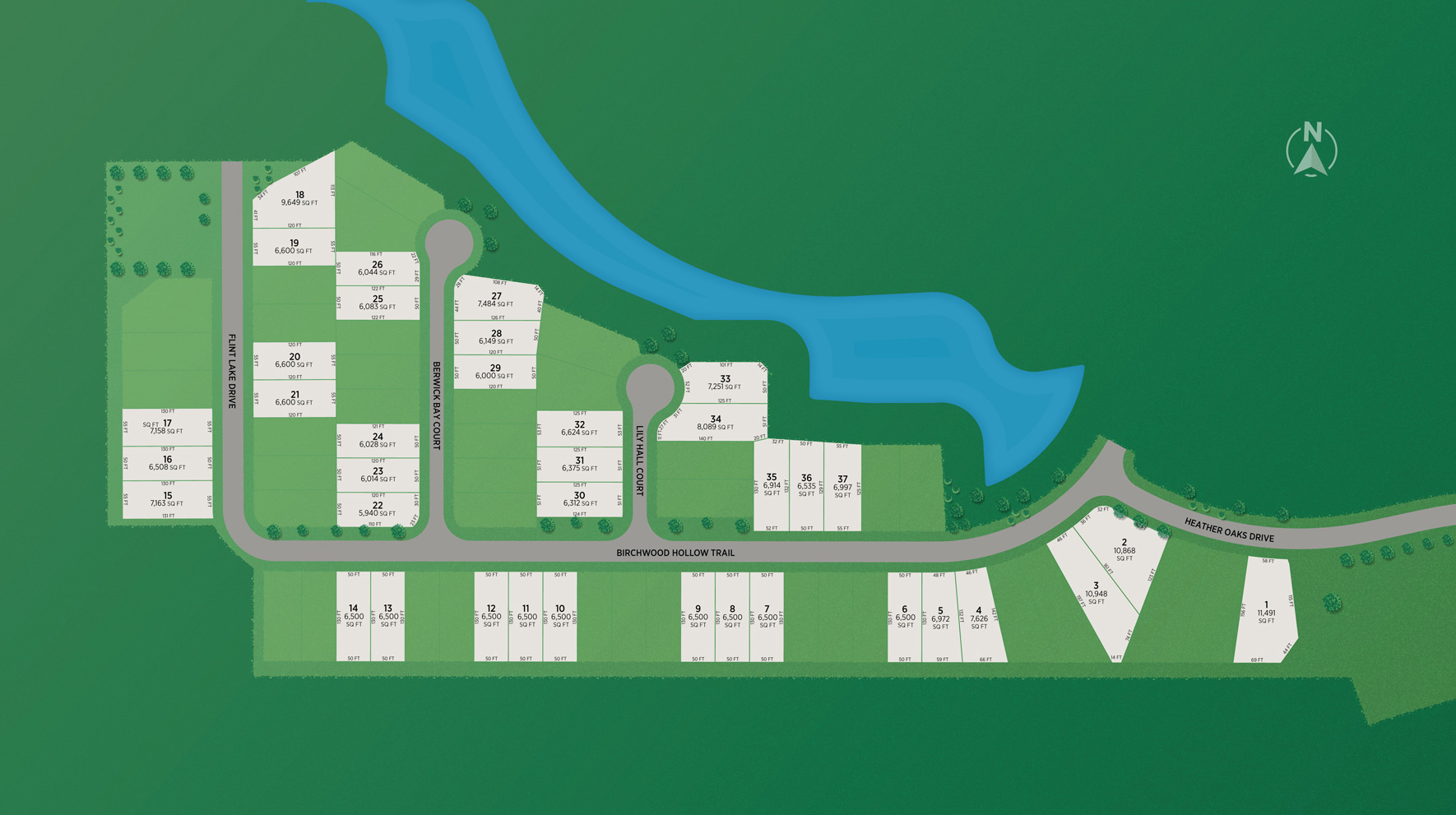 Lakes at Creekside - Villa Collection Site Plan