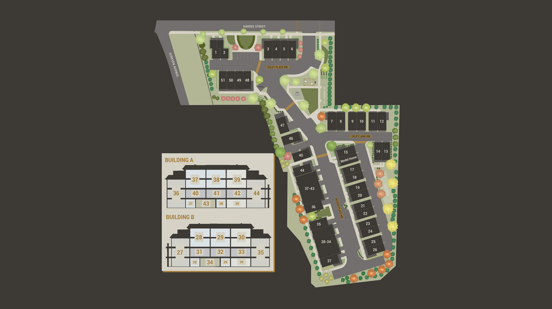 Oxley Edgewood - Townhomes Site Plan