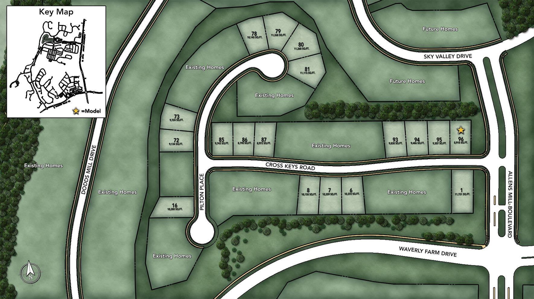 Dominion Valley Country Club - Villas Site Plan I