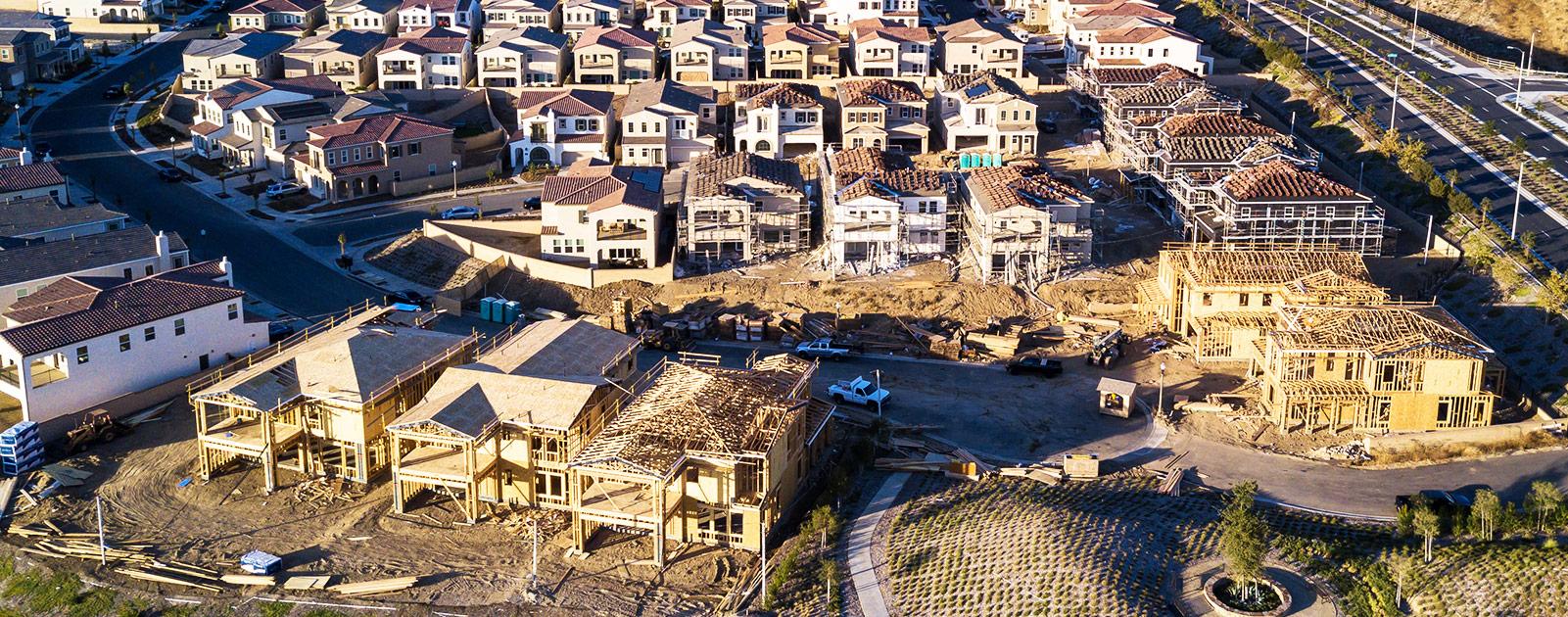 neighborhood under construction