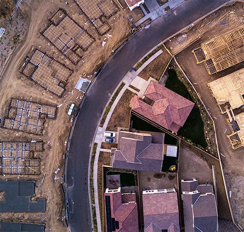 neighborhood overhead view
