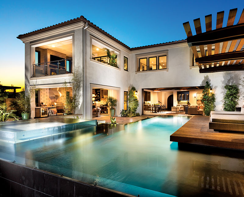 Cahill Model Featuring Custom Backyard Pool and Living Space