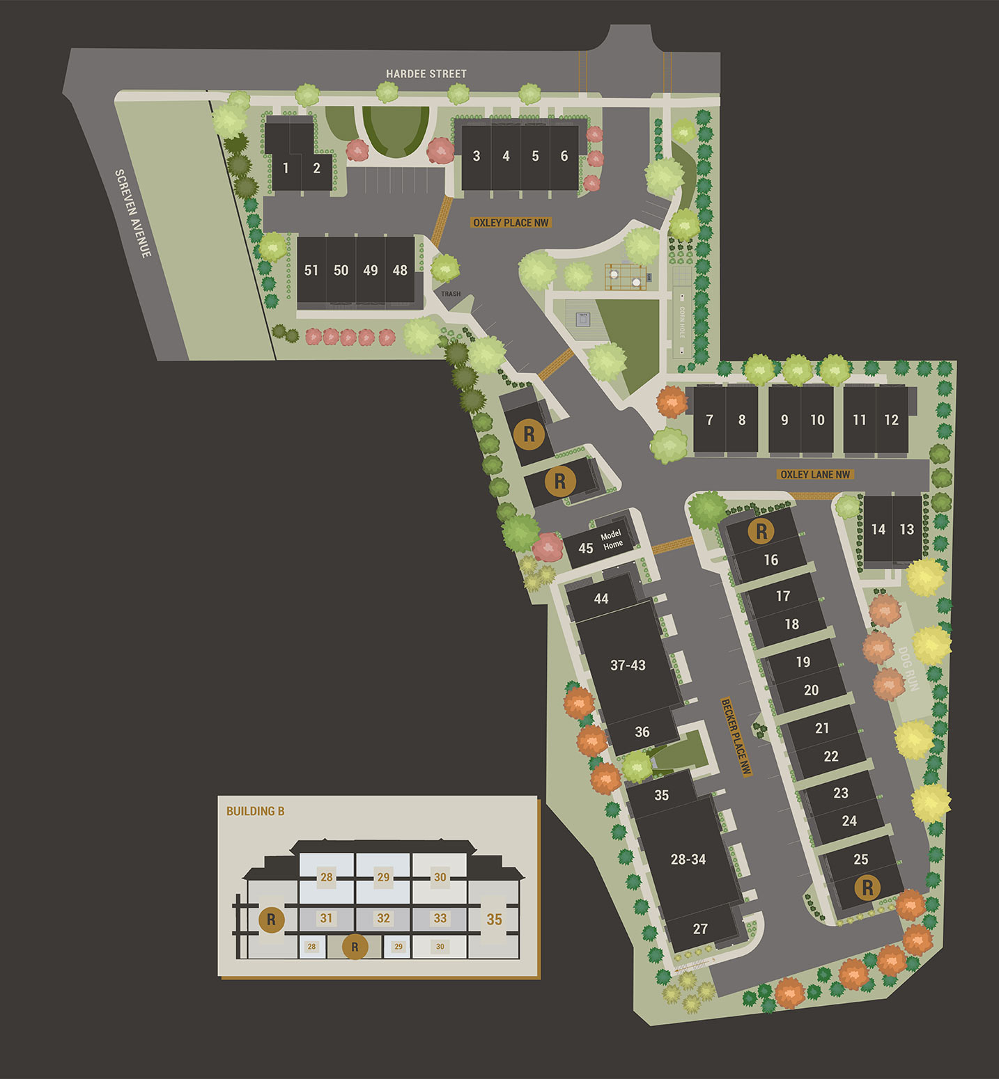 Oxley Edgewood Site plan
