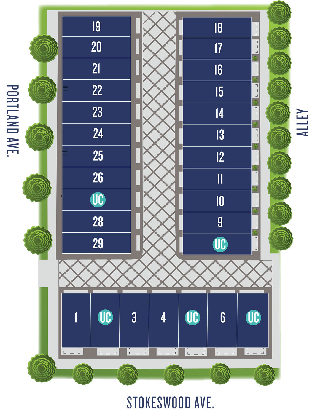 Portland Row Site plan