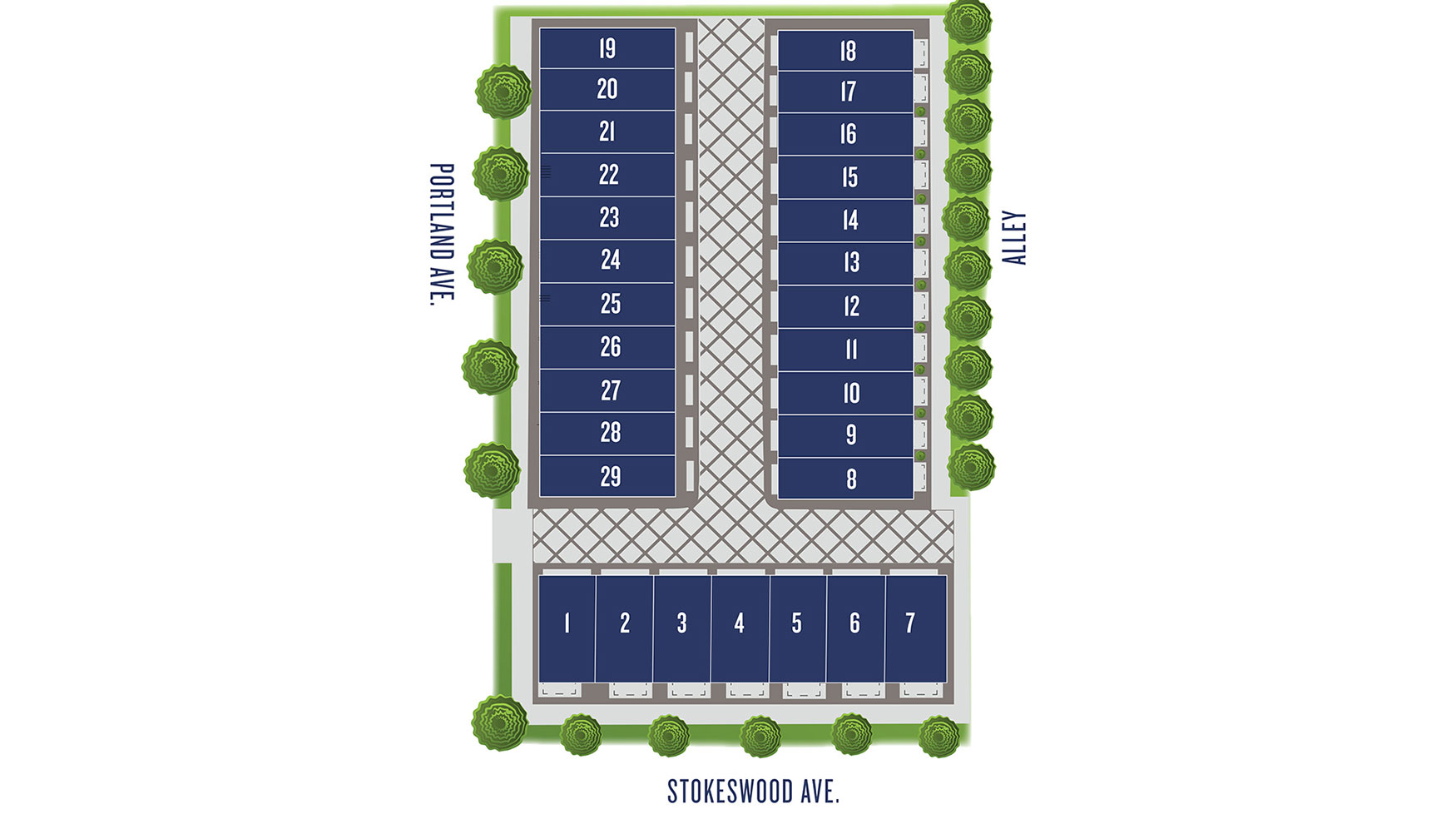 Portland Row Site plan