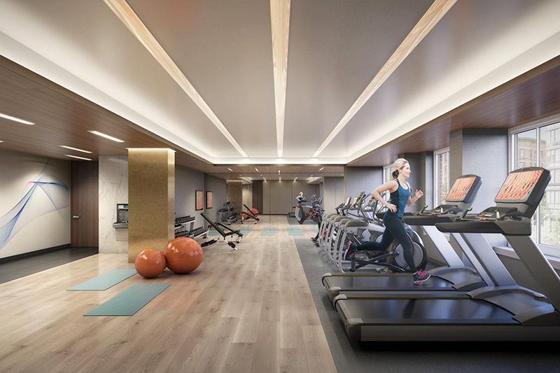 fitness room at 1000 Maxwell Place