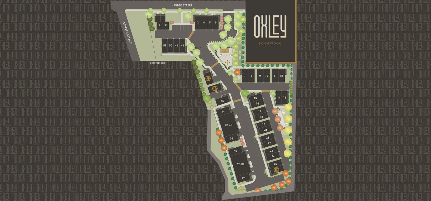 Oxley Edgewood Site Map