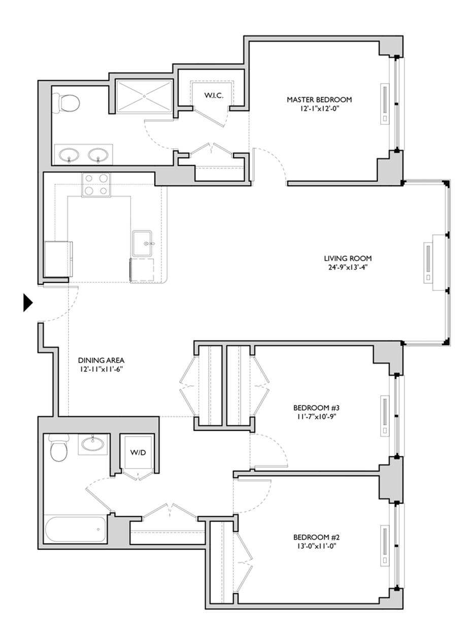 Residence 406 Floor Plan
