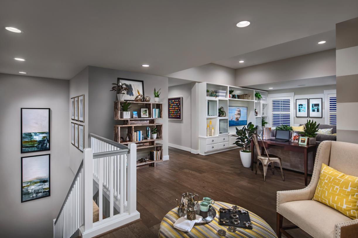 The versatile loft provides multiple spaces for homework or gathering