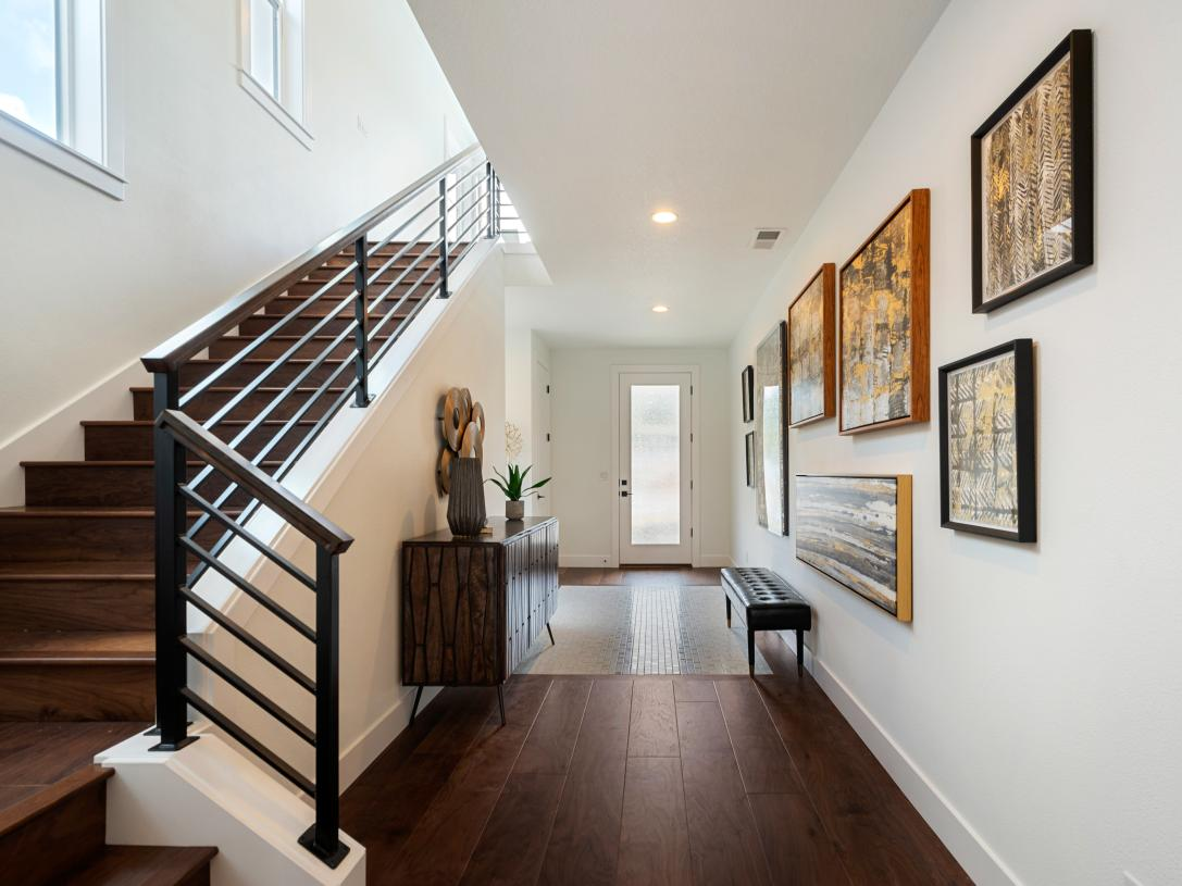 Bright entry foyer and stairs