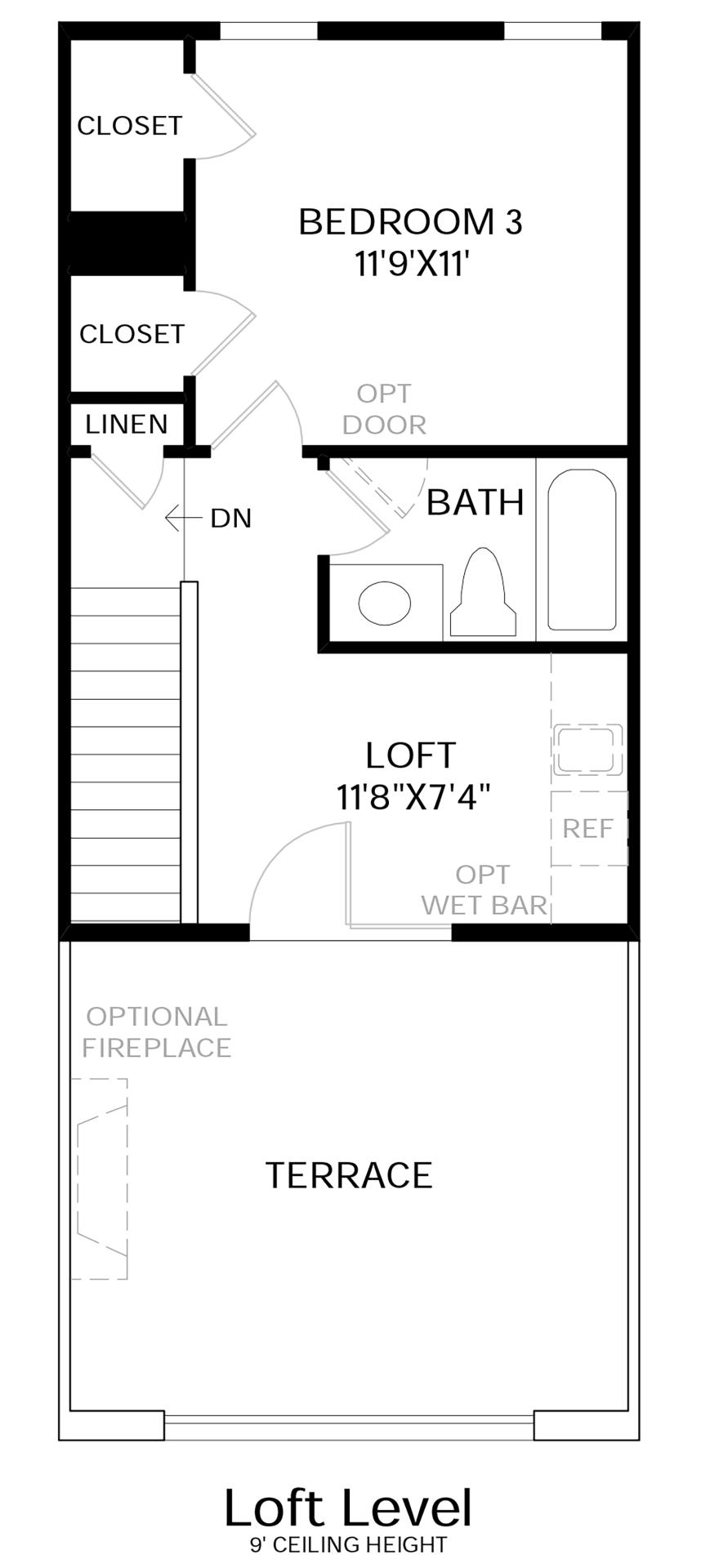 Loft Level Floor Plan