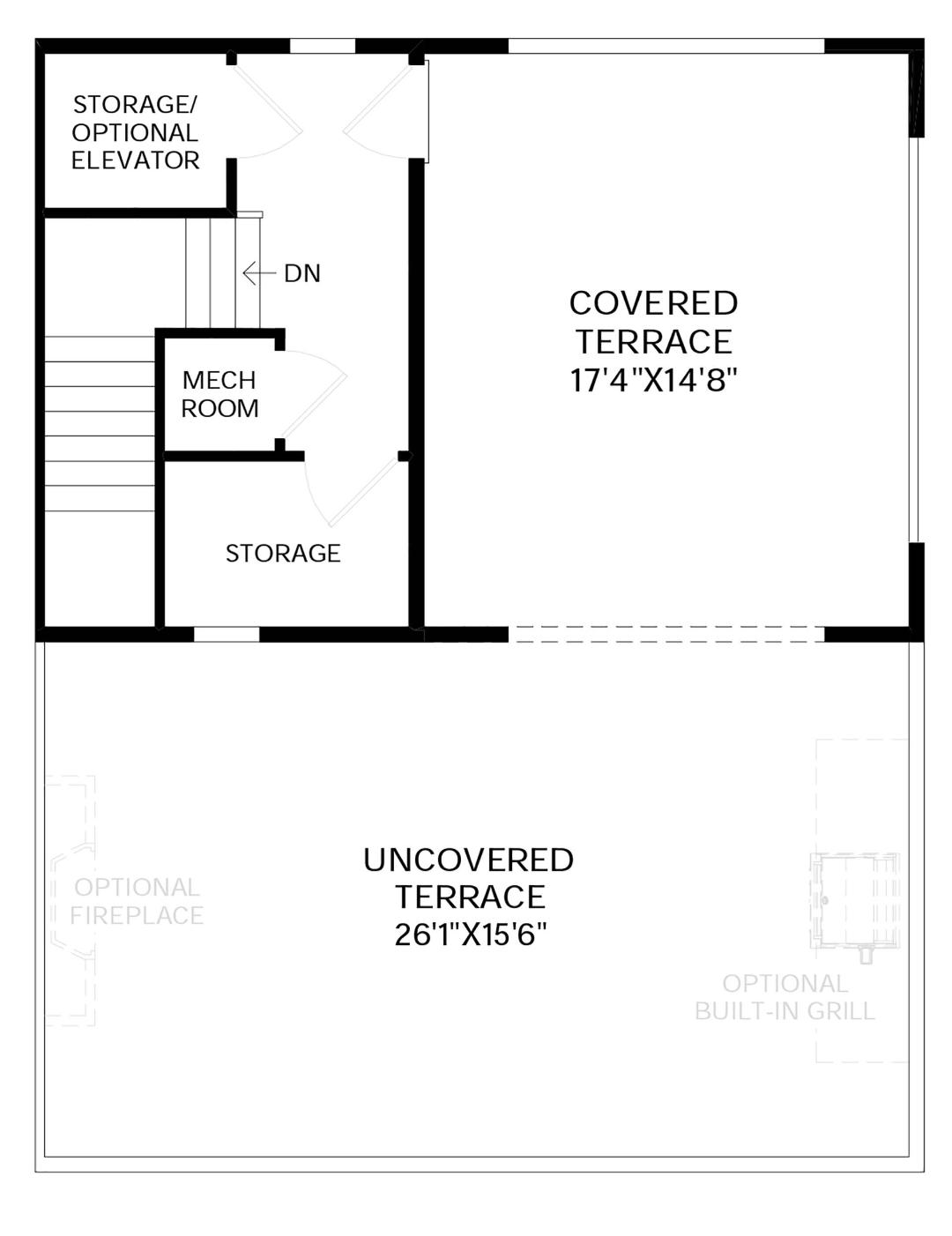 Rooftop Terrace Floor Plan