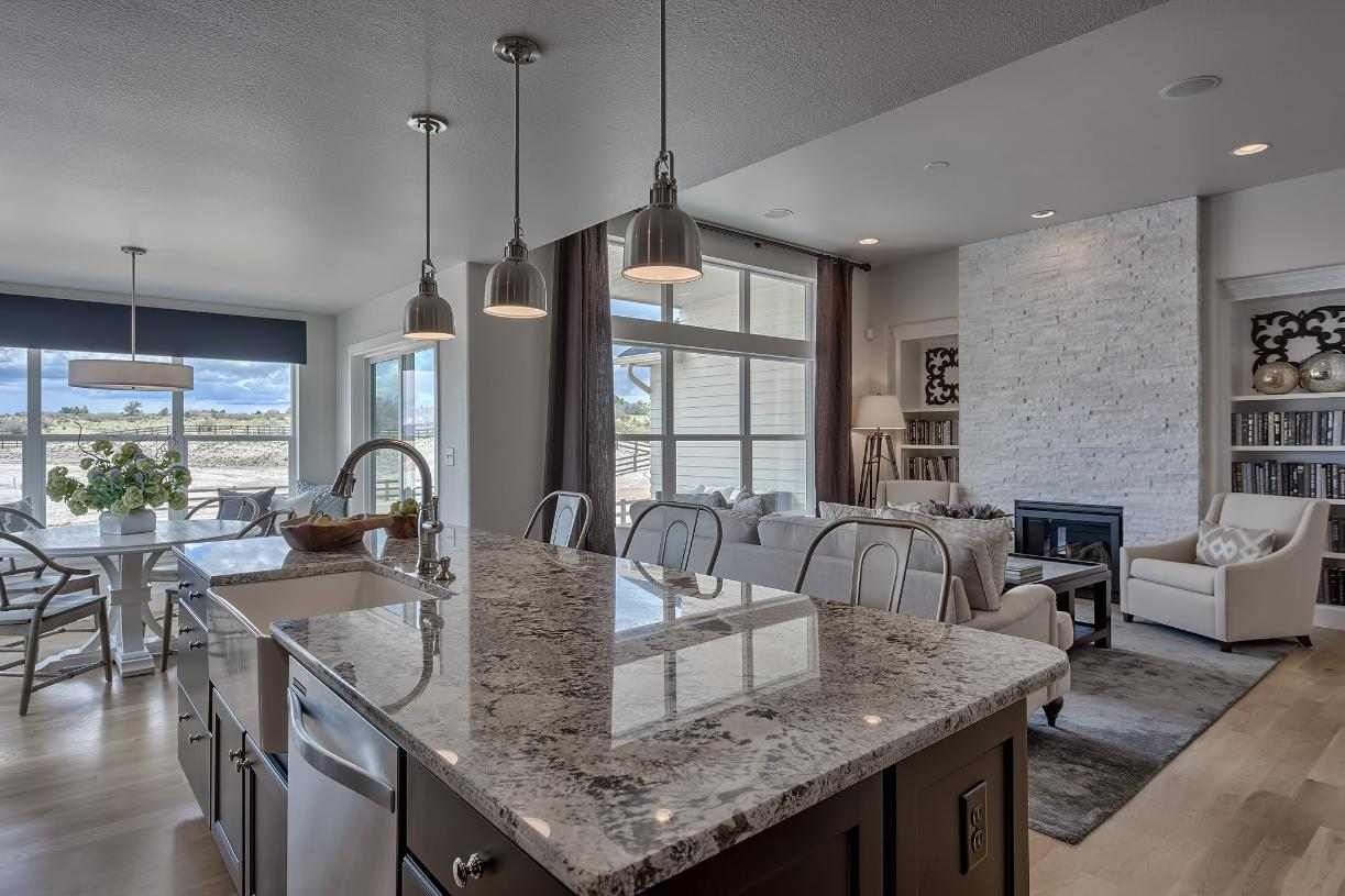 Share family time together with the open main level home design