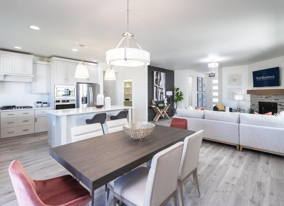 Open concept living and dining
