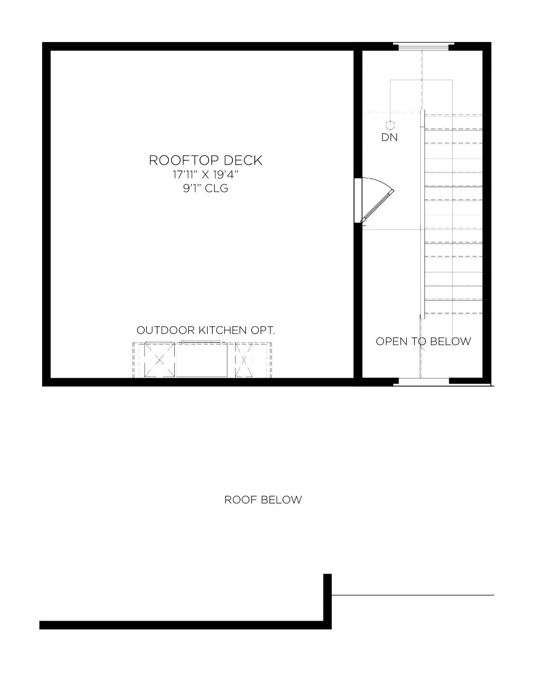 Rooftop Deck Option Floor Plan