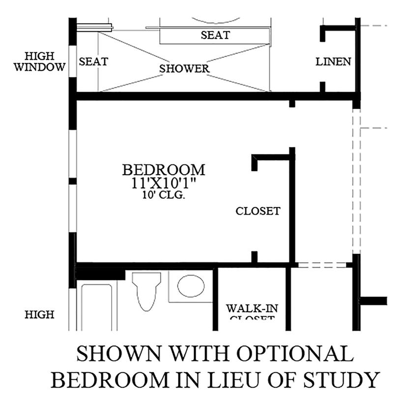 Julington Lakes - Optional Bedroom ILO Study