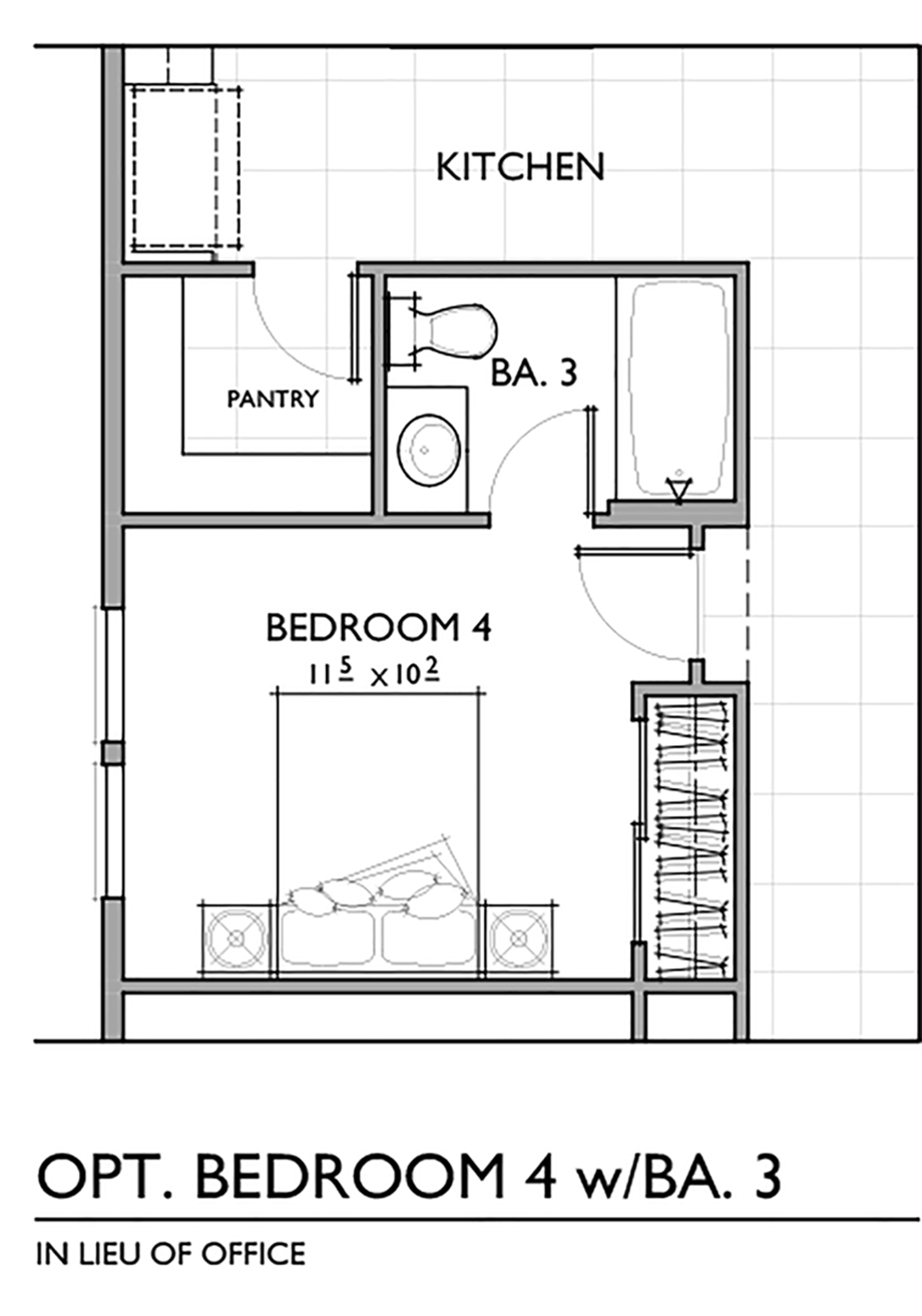 Optional Fourth Bedroom with Bath Floor Plan