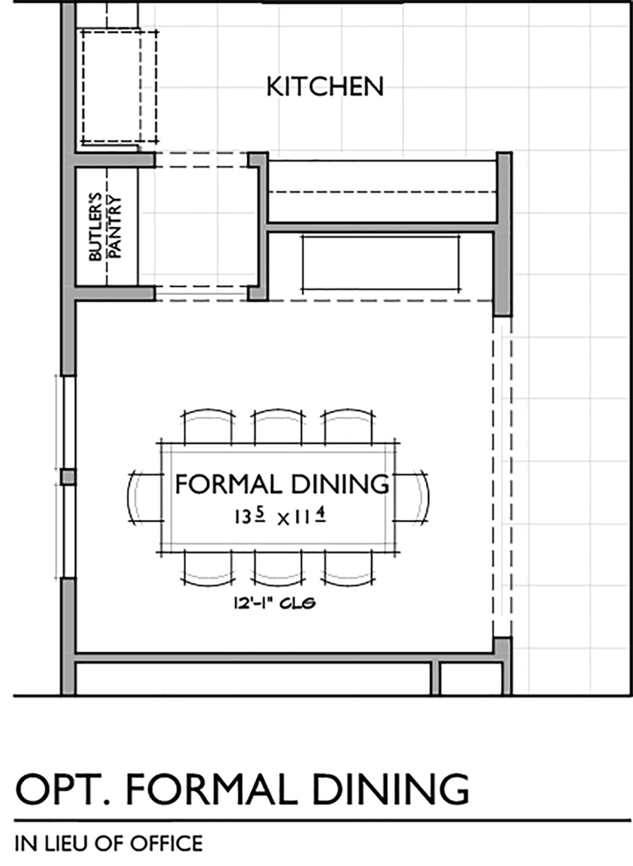 Optional Formal Dining Room Floor Plan