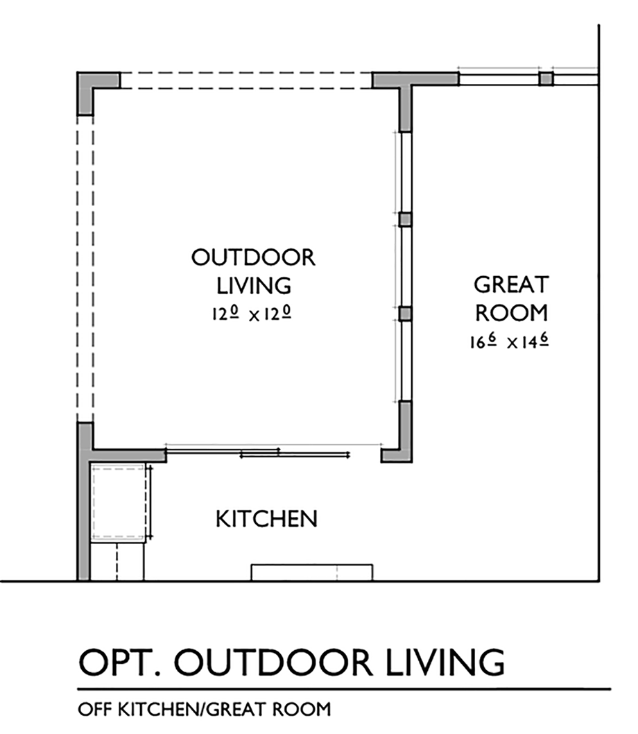 Optional Outdoor Living Space Floor Plan