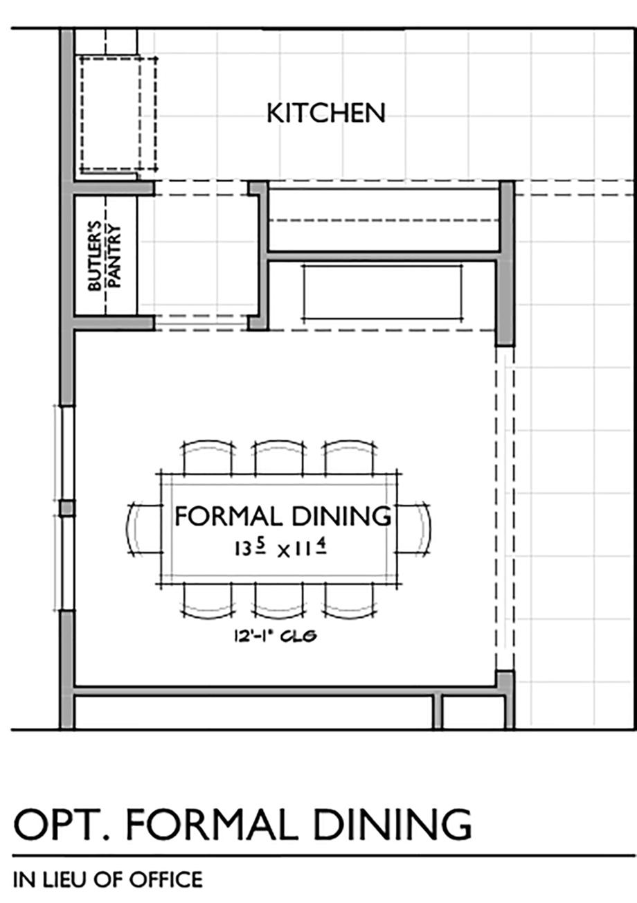 Optional Formal Dining Room Floor Plan