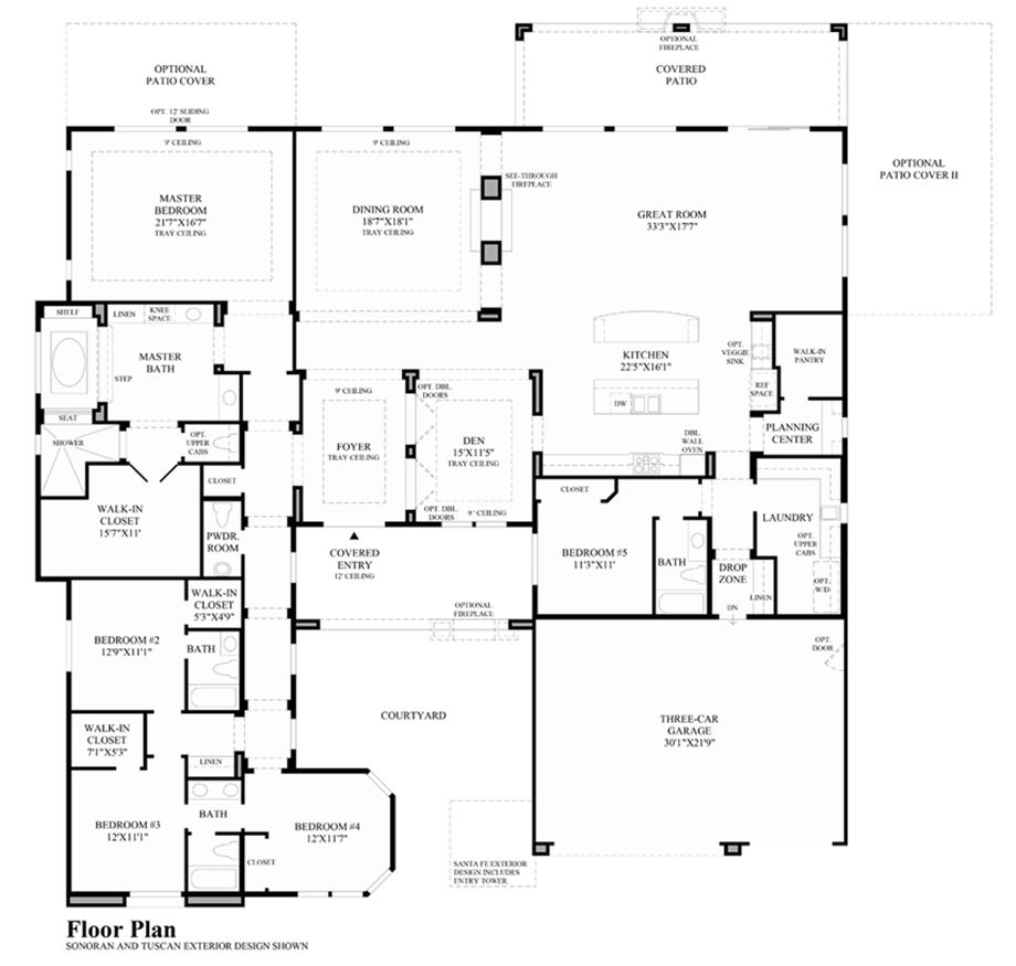 Estates at saddle ridge the airmont home design for Santa fe floor plans