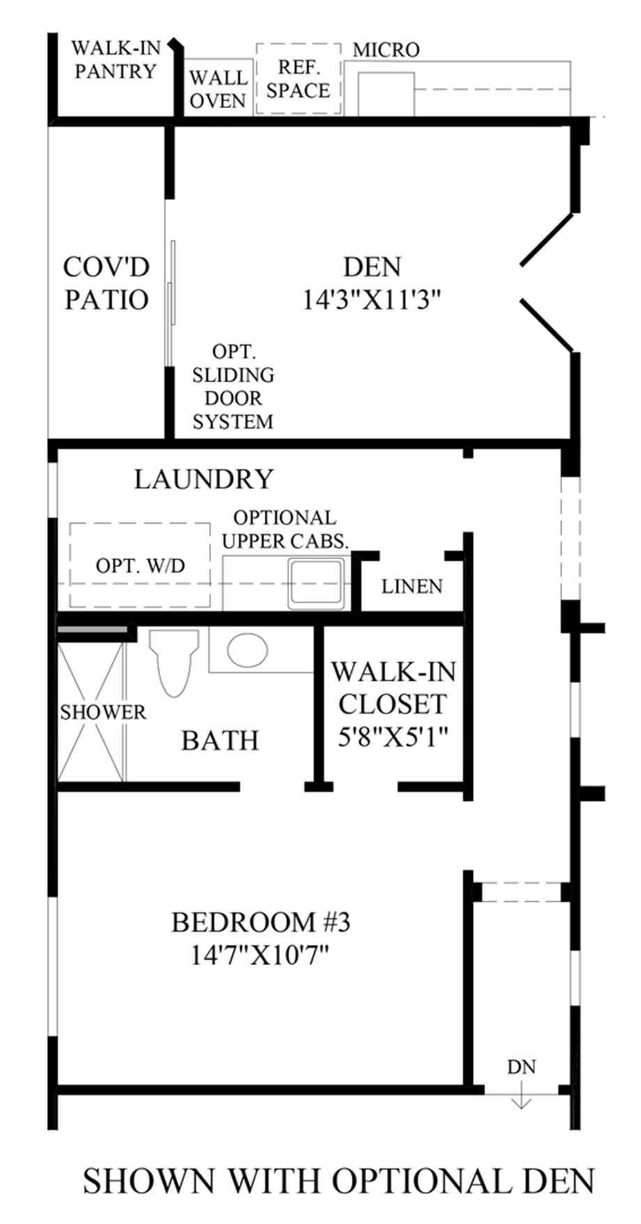 Optional Den Floor Plan