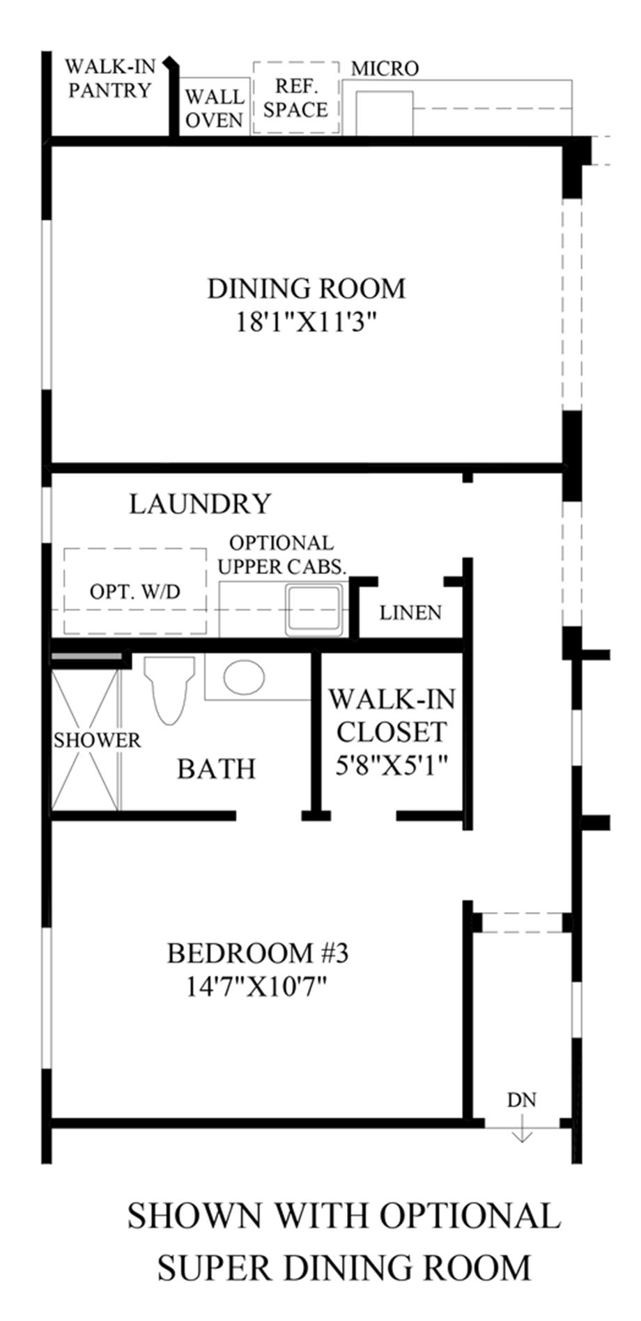 Optional Super Dining Room Floor Plan