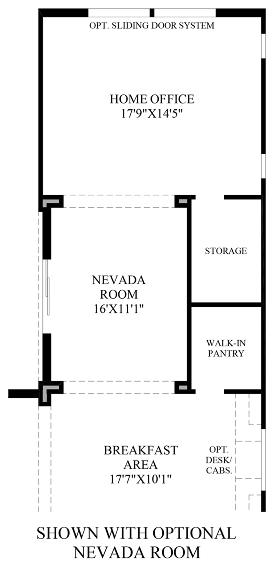 Optional Nevada Room Floor Plan